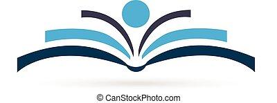 Book figure logo - Book figure icon logo illustration vector...