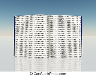 Book filled with Genetic Code Letters