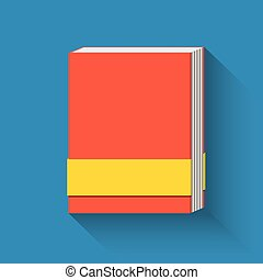 Book flat icon.