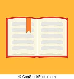 Book flat icon