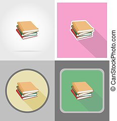 book flat icons vector illustration