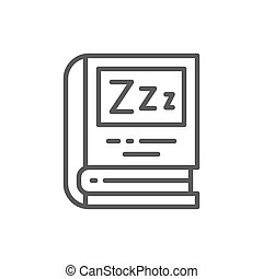 Book for bedtime reading line icon.