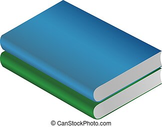 book green isolated on white background vector illustration.
