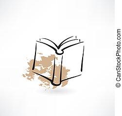 book grunge icon
