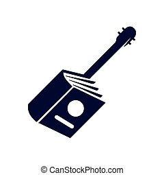 book guitar logo vector template