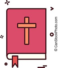 book holy bible icon vector design