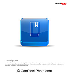book icon - 3d Blue Button