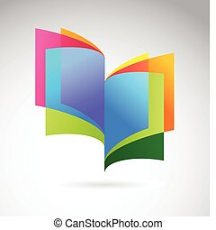 Abstract book icon