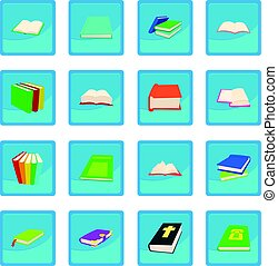 Book icon blue app
