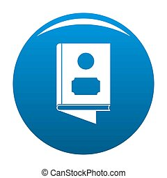 Book icon blue