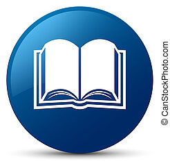 Book icon blue round button