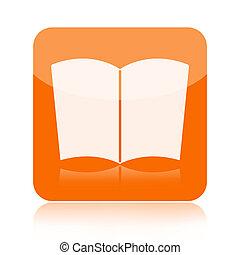 Book icon - Book orange icon isolated on white background