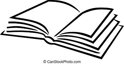 Book icon caligraphy style