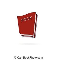 book icon color vector