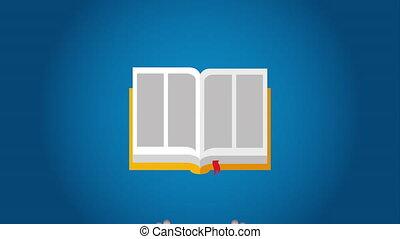 Book icon design, Video Animation