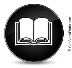 Book icon elegant black round button