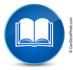 Book icon elegant blue round button