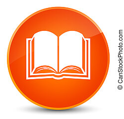 Book icon elegant orange round button