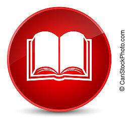 Book icon elegant red round button