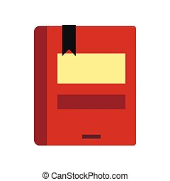 Book icon, flat style