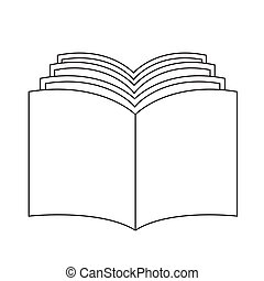 book icon illustration design