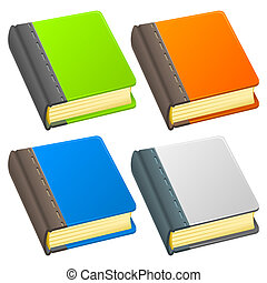 Book Icon Illustration - Handmade illustration of brown book...