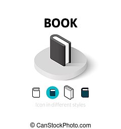 Book icon in different style