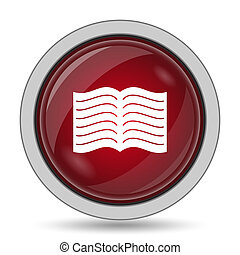 Book icon. Internet button on white background.