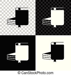 Book icon isolated on black, white and transparent background. Vector Illustration