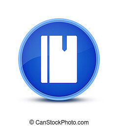 Book  icon isolated on blue round button abstract