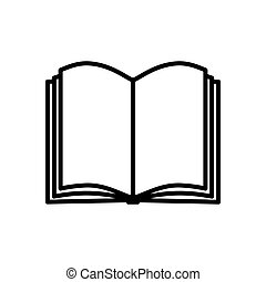 Book icon isolated on white background