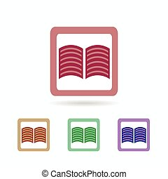 book icon. isolated on white background