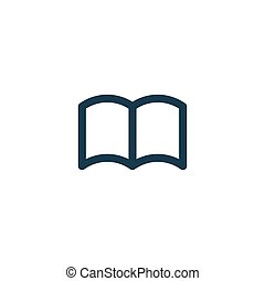 Book icon isolated on white background. vector symbol