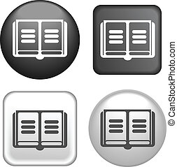 Book Icon on Buttons Collection