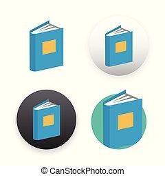Book icon on white