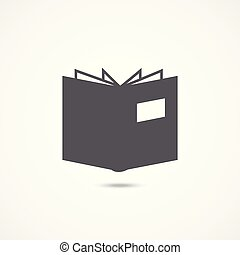 Book icon on white