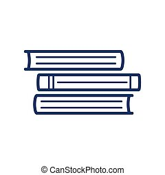 Book icon on white background, vector illustration
