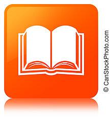 Book icon orange square button