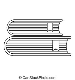 Book icon, outline style.