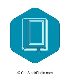 Book icon, outline style