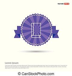 Book icon - Purple Ribbon banner