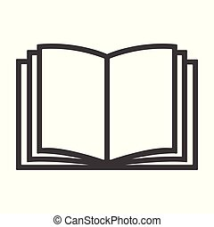 Book icon - simple flat design isolated on white background, vector