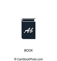 Book icon. Simple school element illustration. Vector symbol design from education collection. Can be used in web and mobile.