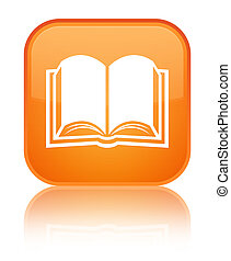 Book icon special orange square button