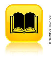 Book icon special yellow square button