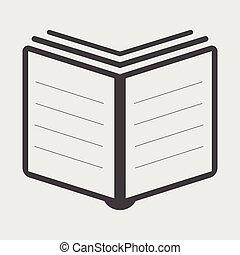 Book Icon vector flat