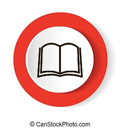 Book icon vector, solid illustration, pictogram isolated on white