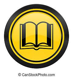 book icon, yellow logo