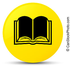 Book icon yellow round button