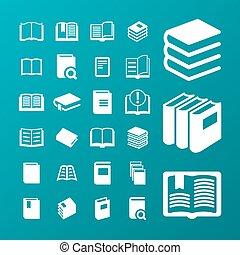 Book icons - Book web vector icon set